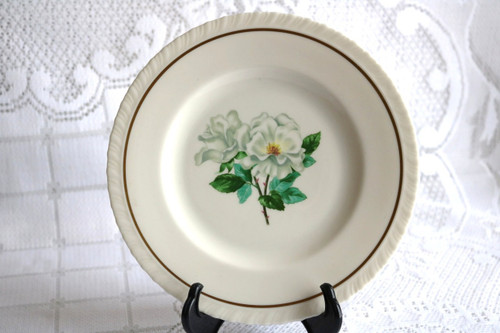 Hanover China Silver Rose Salad Plate