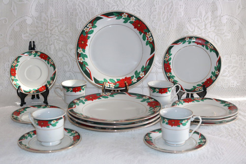 Tienshan Deck The Halls 16 Piece Set