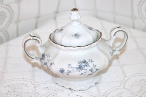 Johann Haviland Blue Garland - Bavaria Sugar Bowl with Lid