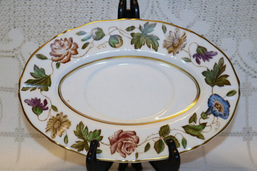 Royal Worcester Virginia Gravy Boat Under Plate