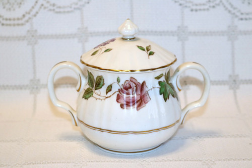Royal Worcester Virginia Sugar Bowl with Lid