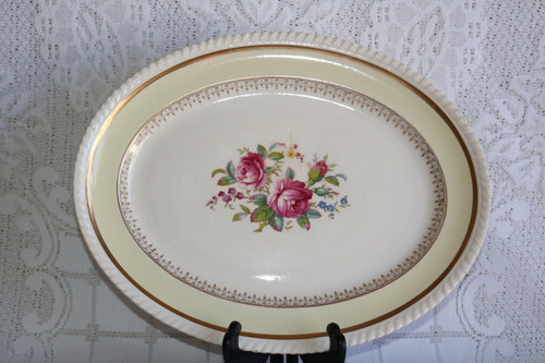 Johnson Brothers Victorian Rose Oval Serving Platter
