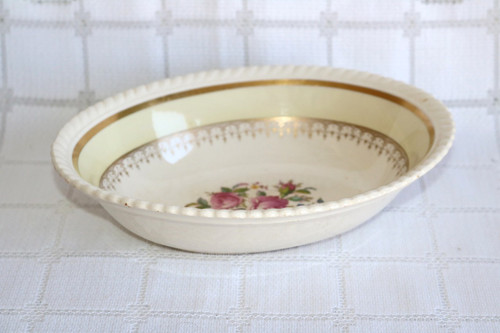 Johnson Brothers Victorian Rose Oval Vegetable Serving Bowl