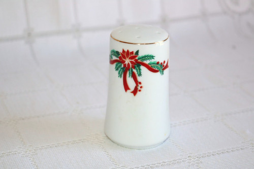 Fine China of China Poinsettia & Ribbons Salt Shaker