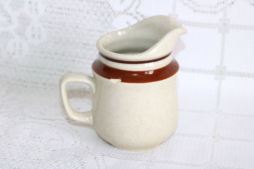 Yamaka China Chateau Sienna Brown Creamer