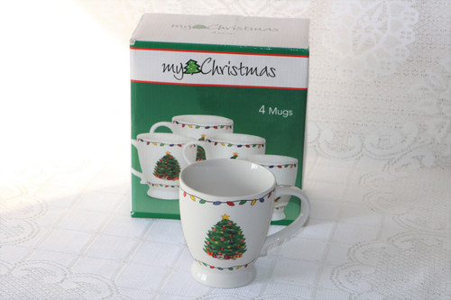 My Christmas Christmas Tree New Boxed Set 4 Mugs