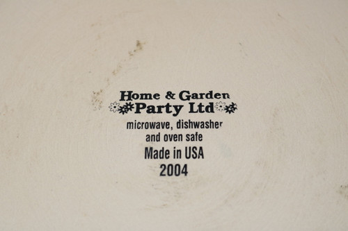 Home & Garden Party Swag Apple Backstamp