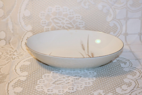 Fine China of Japan Platinum Wheat Oval Vegetable Serving Bowl