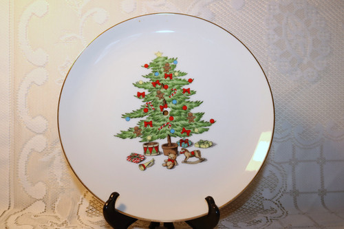 Tienshan Holiday Hostess Large Tidbit Plate