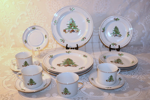 Tienshan Holiday Hostess 16 Piece Set
