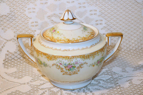 Noritake N848 Sugar Bowl with Lid