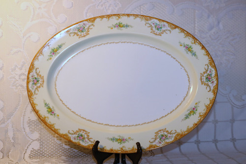 "Noritake N848 16 1/4"" Oval Serving Platter"