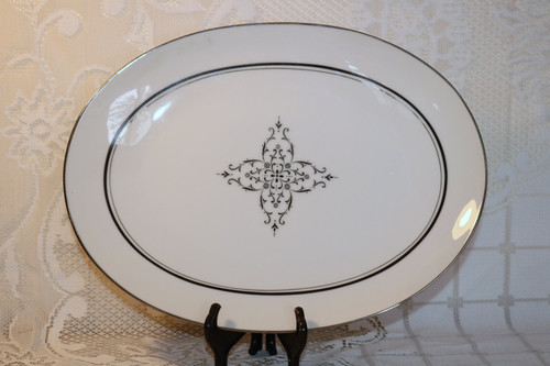 Style House Fine China Granada Oval Serving Platter