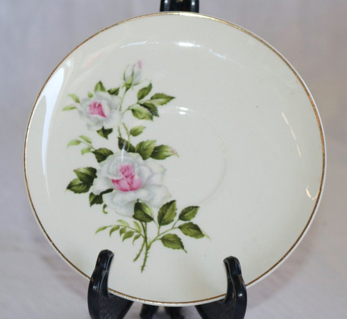 Crooksville Delmar Marie Dinner Rose Saucer