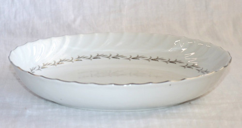 Coreling Fine China Bridal Wreath Oval Vegetable Serving Bowl