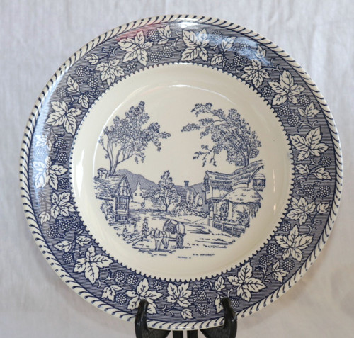 Homer Laughlin Co Shakespeare Country Blue Dinner Plate