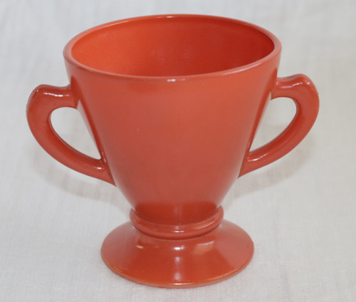 Hazel-Atlas Ovide Rust Open Sugar Bowl
