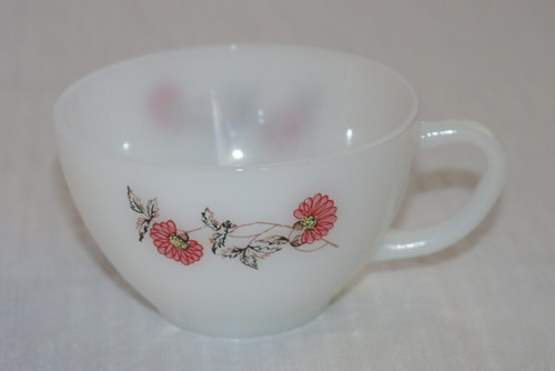 Anchor Hocking Fire King Fleurette Coffee Cup