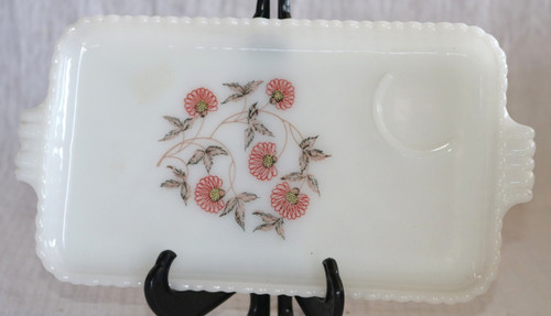 Anchor Hocking Fire King Fleurette Snack Plate