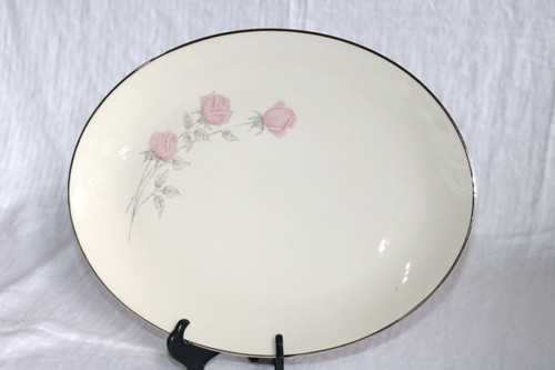 Aristo Craft China Champagne Rose Oval Serving Platter