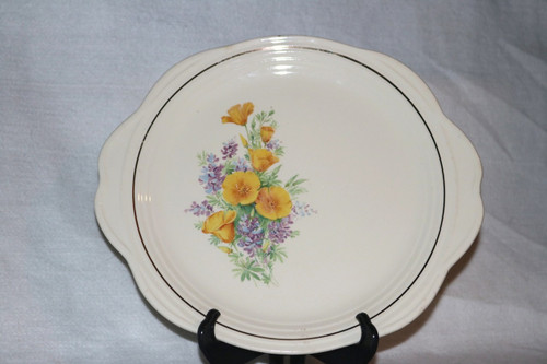 Universal Potteries, Inc. Tab Handled Cake Serving Plate