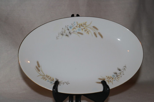 Fine China of Japan Autumn Wheat Gravy Boat Under Plate