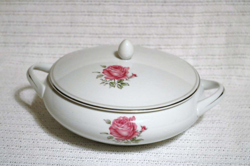 Round Covered Vegetable Serving Bowl - D0090