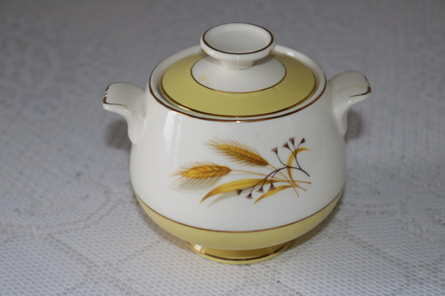 Century Service Autumn Gold Sugar Bowl with Lid