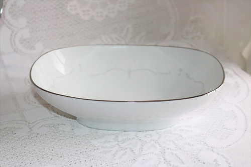 Noritake Whitebrook Oval Vegetable Serving Bowl