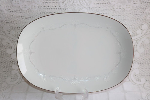 Noritake Whitebrook Oval Serving Platter