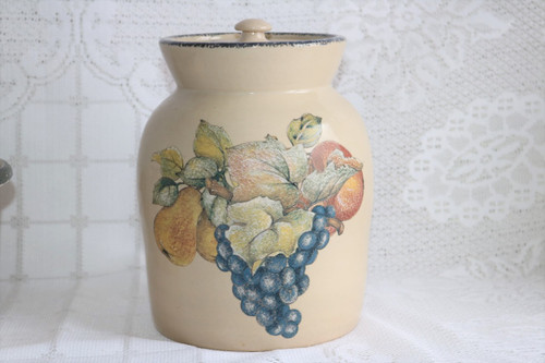Home & Garden Party Italian Fruit Covered Canister
