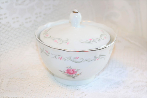 Fine China of Japan Royal Swirl Sugar Bowl with Lid