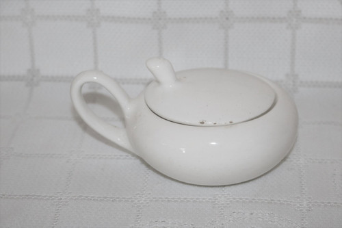 Metlox Shoreline White Sugar Bowl with Lid