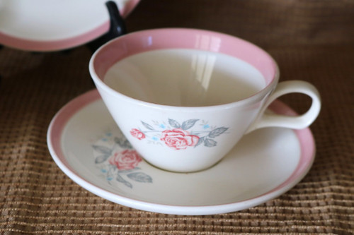 Cunningham & Pickett Dixie Rose Coffee Cup