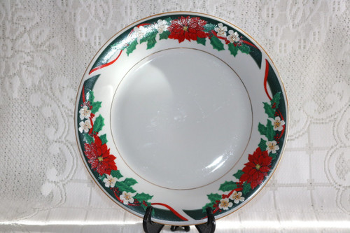 Tienshan Deck The Halls Dinner Plate