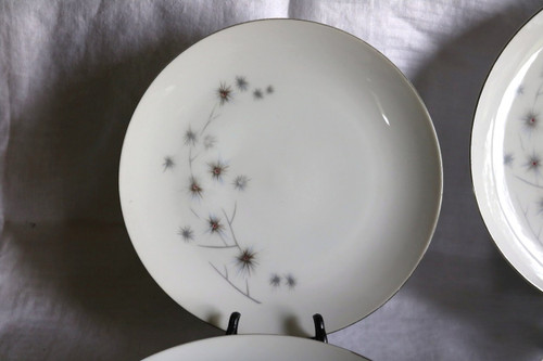 Creative Fine China Platinum Starburst Salad Plate