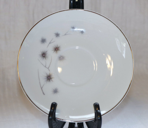 Creative Fine China Platinum Starburst Saucer