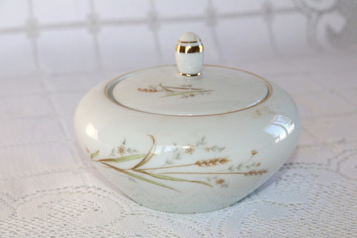 Fine China of Japan Golden Harvest Sugar Bowl with Lid