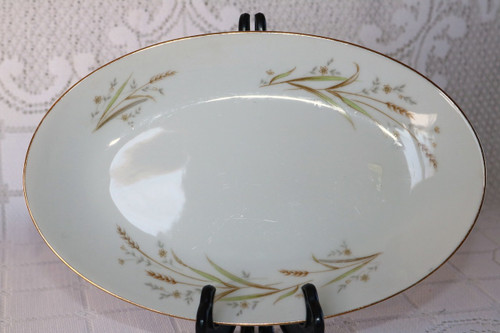 Fine China of Japan Golden Harvest Relish - Gravy Boat Under Plate