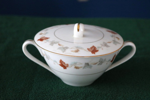 Yamaka China September Song Sugar Bowl with Lid