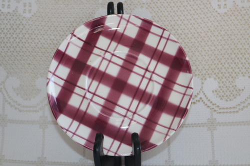 W.S. George Plaid - Cranberry Saucer