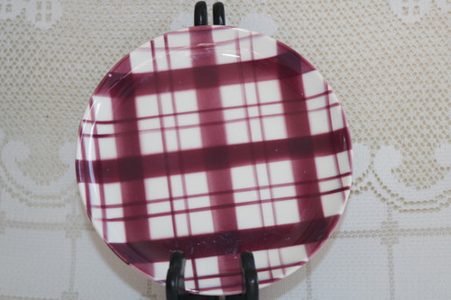 W.S. George Plaid - Cranberry Bread & Butter Plate