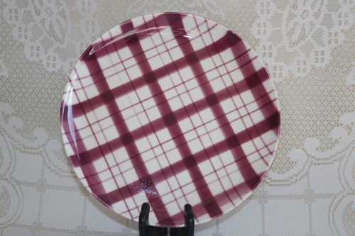 W.S. George Plaid - Cranberry Dinner Plate