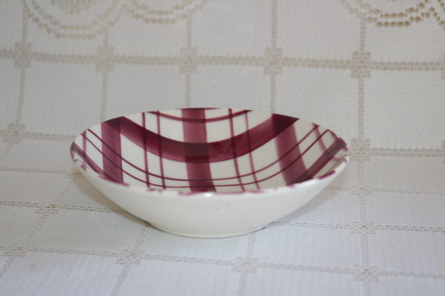 W.S. George Plaid - Cranberry Berry Bowl