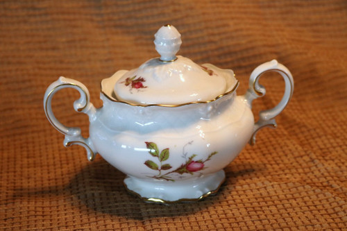 Royal Heidelberg Rose Brier Sugar Bowl with Lid
