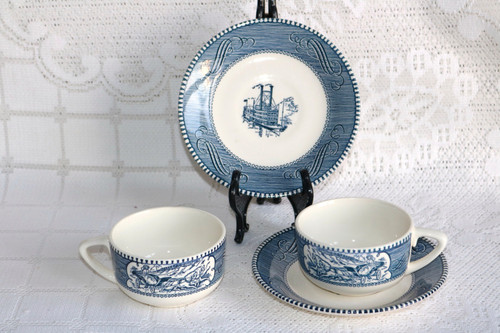 CURRIER & IVES BLUE