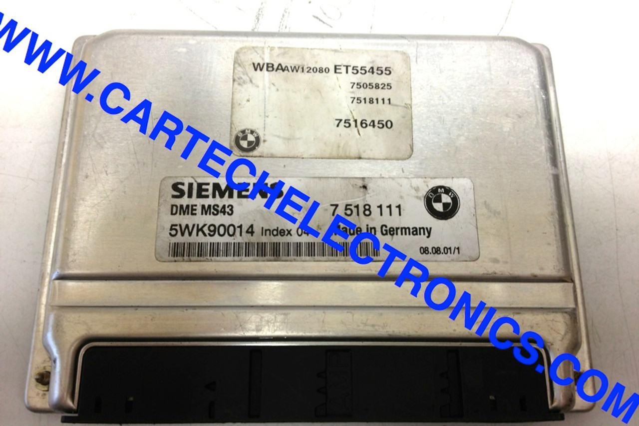 Plug & Play BMW Engine ECU 7518111 7 518 111 5WK90014 DME MS43
