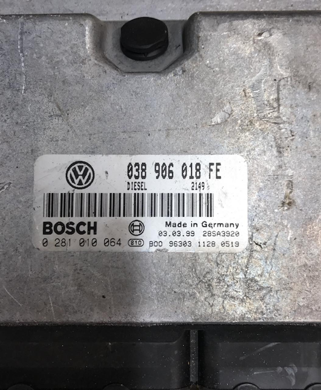 Volkswagen Passat 1.9 TDi  0281010064  0 281 010 064  038906018FE  038 906 018 FE