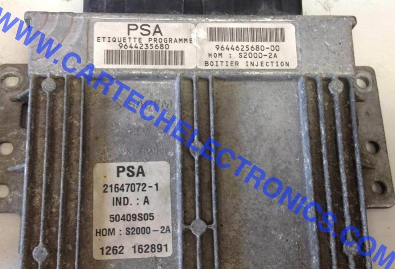 PSA  Peugeot 206 1.4  S2000-2A  9644235680  9644625680-00  21647072-1