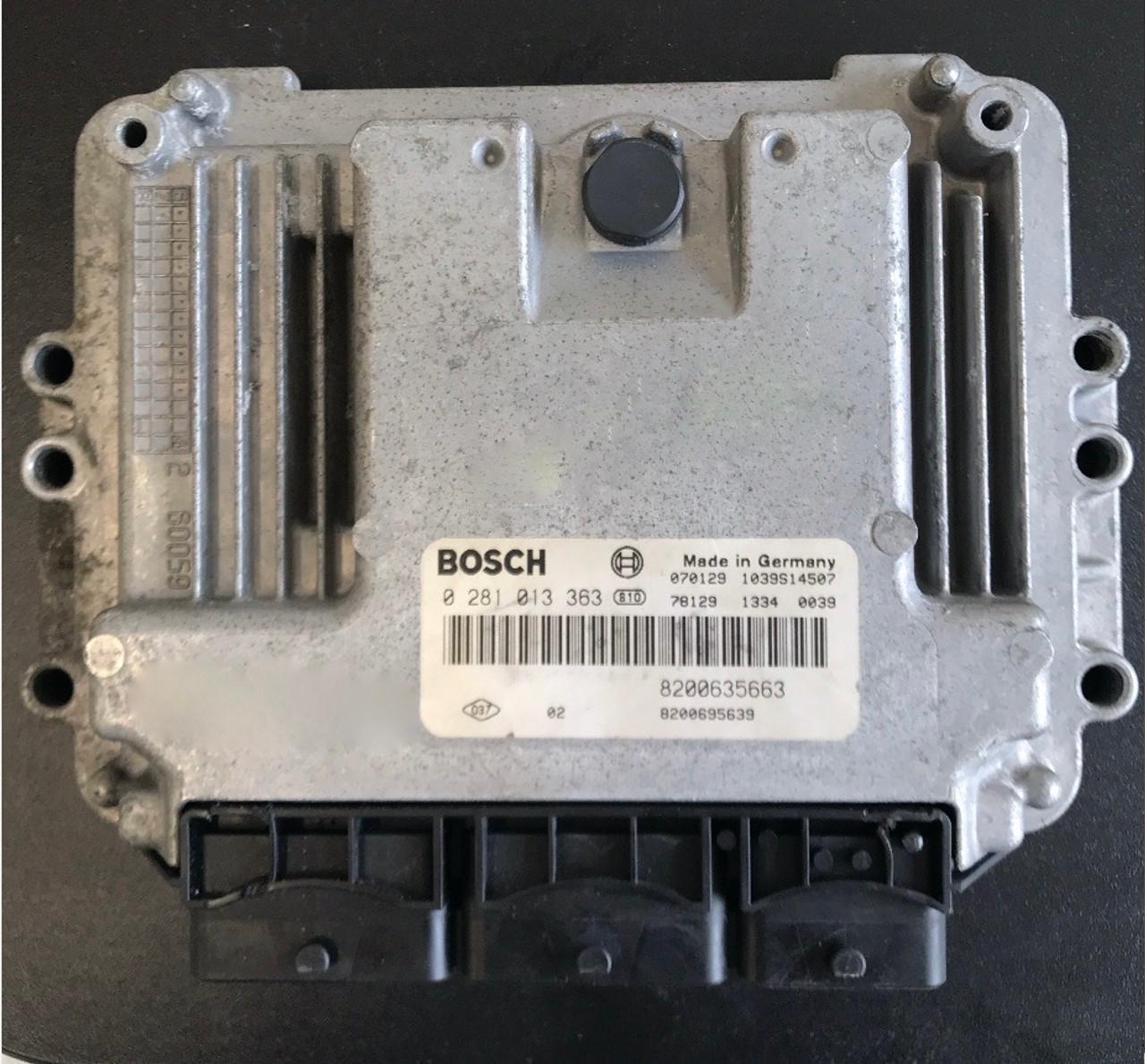 Bosch Engine ECU, Renault Master, 0281013363, 0 281 013 363, 8200635663, 8200695639, 1039S14507